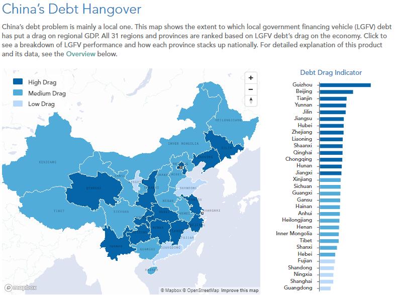 LGFV debt map